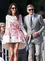 george clooney wedding george clooney wedding actor and amal alamuddin step out in