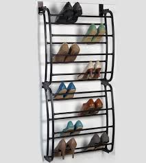 41 shoe rack back of door shoe rack blue colour by furniturekraft