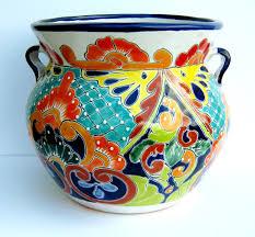 ceramic planters designs ideas full color colorful for indoor