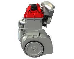 4 cylinder engine 4 cylinder engine 3d