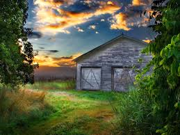 Wallpaper Barn An Old Barn At Sunset Desktop Wallpapers Hd Free Photos