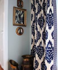 Navy Patterned Curtains Large Patterned Curtains Bedroom Curtains Siopboston2010