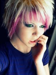 scene girls with pink hair short blonde emo hairshort scene hair