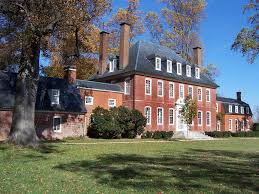 Southern Colonial House Westover Plantation Built 1750 By William Byrd Iii Along The