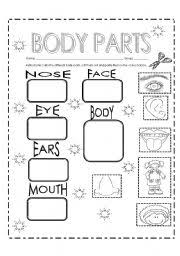 english teaching worksheets body parts