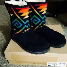 womens ugg pendleton boots 55 ugg shoes sale ugg limited ed pendleton boots from