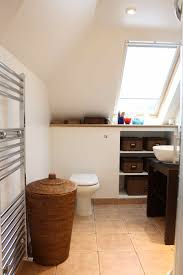ensuite bathroom with built in recessed storage gylcote road