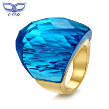 big stones rings images Buy fashion women big stone party rings stainless steel rings with jpg