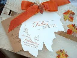 fall wedding programs autumn wedding invitation brown white white leaf shaped orange