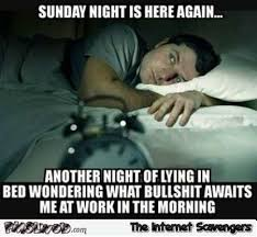 Sunday Meme - sunday night is here again funny meme pmslweb