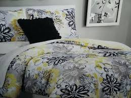 yellow and white duvet covers awesome yellow black and grey
