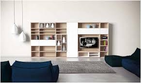 canapé style togo meuble modulable salon bois façades blanches suspensions blanches