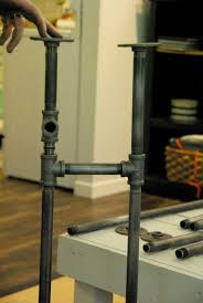 galvanized pipe table legs how to build a rustic table using galvanized pipes