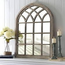 Hallway Table And Mirror Entry Hall Table With Mirror Distressed Cream Arch Small And Above