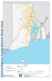Rhode Island On Map National Highway Freight Network Map And Tables For Rhode Island