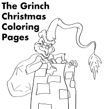 grinch christmas printable coloring pages holidappy