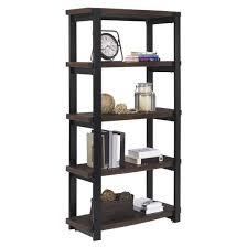 castling 4 shelf bookcase espresso altra target