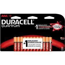 duracell quantum alkaline aaa household batteries 12pk walmart com