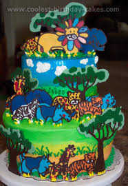 jungle theme cake coolest safari and jungle cake ideas and photos