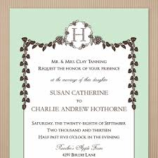 Invitation Card For Marriage In English Christian Wedding Invitation Card Format In English Archives