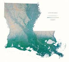 louisiana elevation map louisiana elevation tints map wall maps