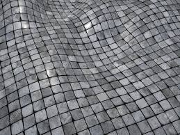 3d render wobble mosaic tile floor wall surface stock photo