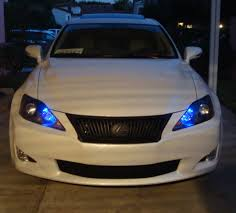 lexus is300 blue dark blue parking lights and blacked out headlight housings pics
