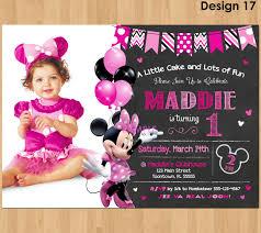 Minnie Mouse Invitation Card Unique Ideas For Minnie Mouse 1st Birthday Invitations Ideas