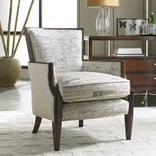 Unique Accent Chairs by Upholstered Exposed Wood Accent Chair By Sam Moore Wolf And
