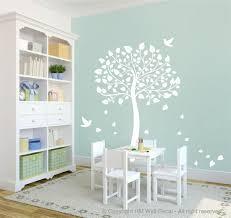 nursery wall decals tree wooden rocking chair bird sticker