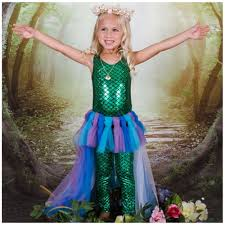 Mermaid Halloween Costume Toddler Girls Mermaid Tulle Skirt U0026 Fish Scale Leotard Halloween Costume