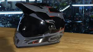 motocross helmet with shield bell helmets mx 9 adventure motorcycle helmet review youtube