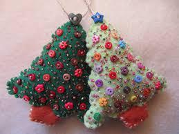 handmade felt tree decorations decoration image idea
