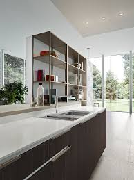 fashionable modern kitchen compositions with smart storage solutions