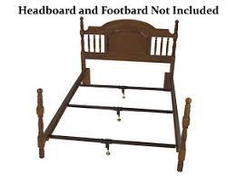 Bed Frame Support Wooden Railed Bed Frame Metal Support System