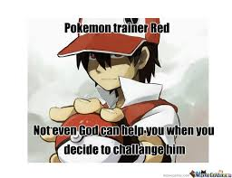 Meme Center Pokemon - pokemon trainer red by dodo97179 meme center