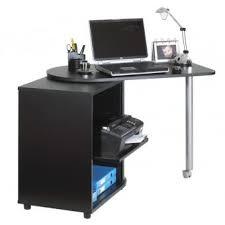 bureau informatique noir bureau informatique noir pivotant et rideau imprimé coloris pont