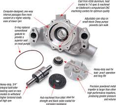 edelbrock 8811 victor series satin aluminum water pump for 1969