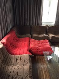 ligne roset sofa togo designer ligne roset togo red sofa and footstool in aberdeen gumtree
