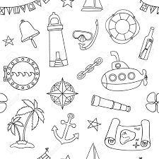 nautical wrapping paper seamless nautical pattern graphic design elements for printables