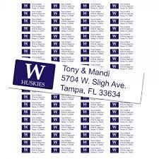 of washington huskies custom return address labels free