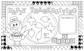 thanksgiving placemat thanksgiving placemat coloring page festival collections