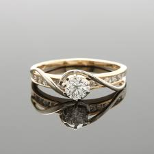 yellow gold diamond rings 14k yellow gold diamond ring with white gold accents ebth