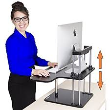 Desk Extender For Standing Amazon Com Workez Standing Desk Conversion Kit Adjustable