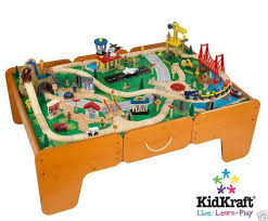 Toy Train Table Plans Free by Amazon Com Kidkraft Waterfall Mountain Train Set And Table Toys