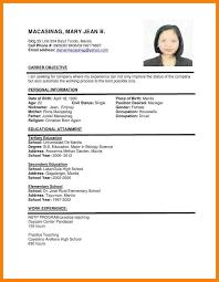 basic resume exles 2017 philippines 5 philippines resume sle sales resumed