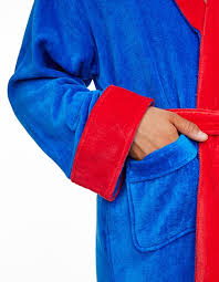 superman superman fleece robe dressing gown groovy