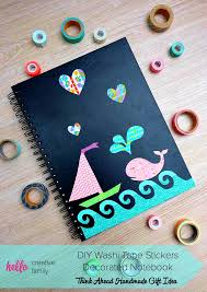 things to do with washi tape diy washi tape stickers decorated notebook think ahead handmade