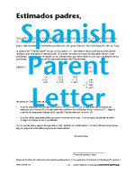 parent letter in english and spanish excel math k 6 curriculum