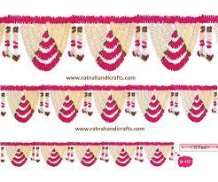 Indian Wedding Flowers Garlands Decorative Artificial Flower Toran B 133 Ratna Handicrafts